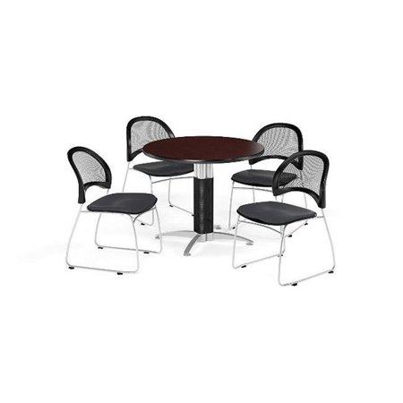 ofm pkg-brk-175-0010 breakroom package, cherry table/royal blue chair ()
