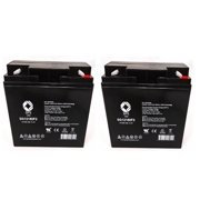 SPS Brand 12V 18 Ah terminal F2 Replacement Battery for Kawasaki (Jet Ski) JH750 F2, 1995-1999 (2 pack)