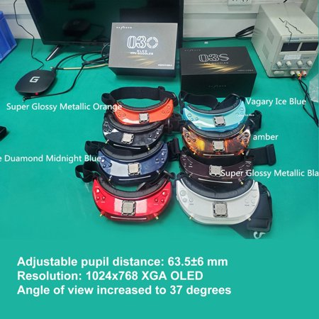 SKYZONE SKY03O 5.8GHz 48CH Diversity FPV Goggles Support HDMI Head Tracking with Fan DVR Front Camera For RC Drone - image 7 of 7