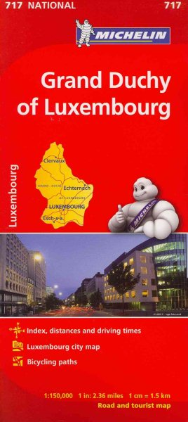 Michelin Grand Duchy of Luxembourg Road and Tourist Map Walmartcom