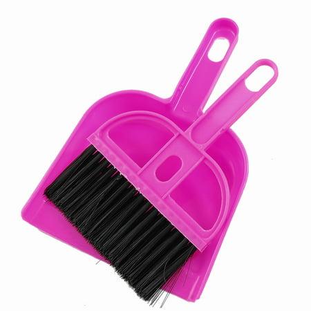 Unique Bargains Black Pink Portable Car Cleaner Sweeping Dust Whisk Broom Dustpan (Whisk Broom Set)