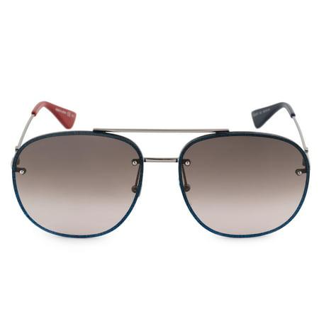 Gucci Brown Gradient Aviator Sunglasses GG0227S 002 62