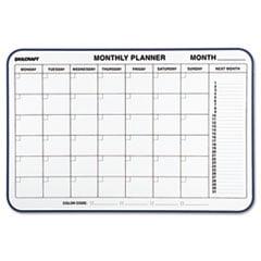 7520014845263 Monthly Planner Wall Board Easel, Melamine, Blue Frame,