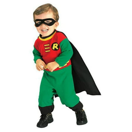 Teen Titans DC Comics Robin Romper Toddler Costume](Halloween Batman And Robin Costumes)