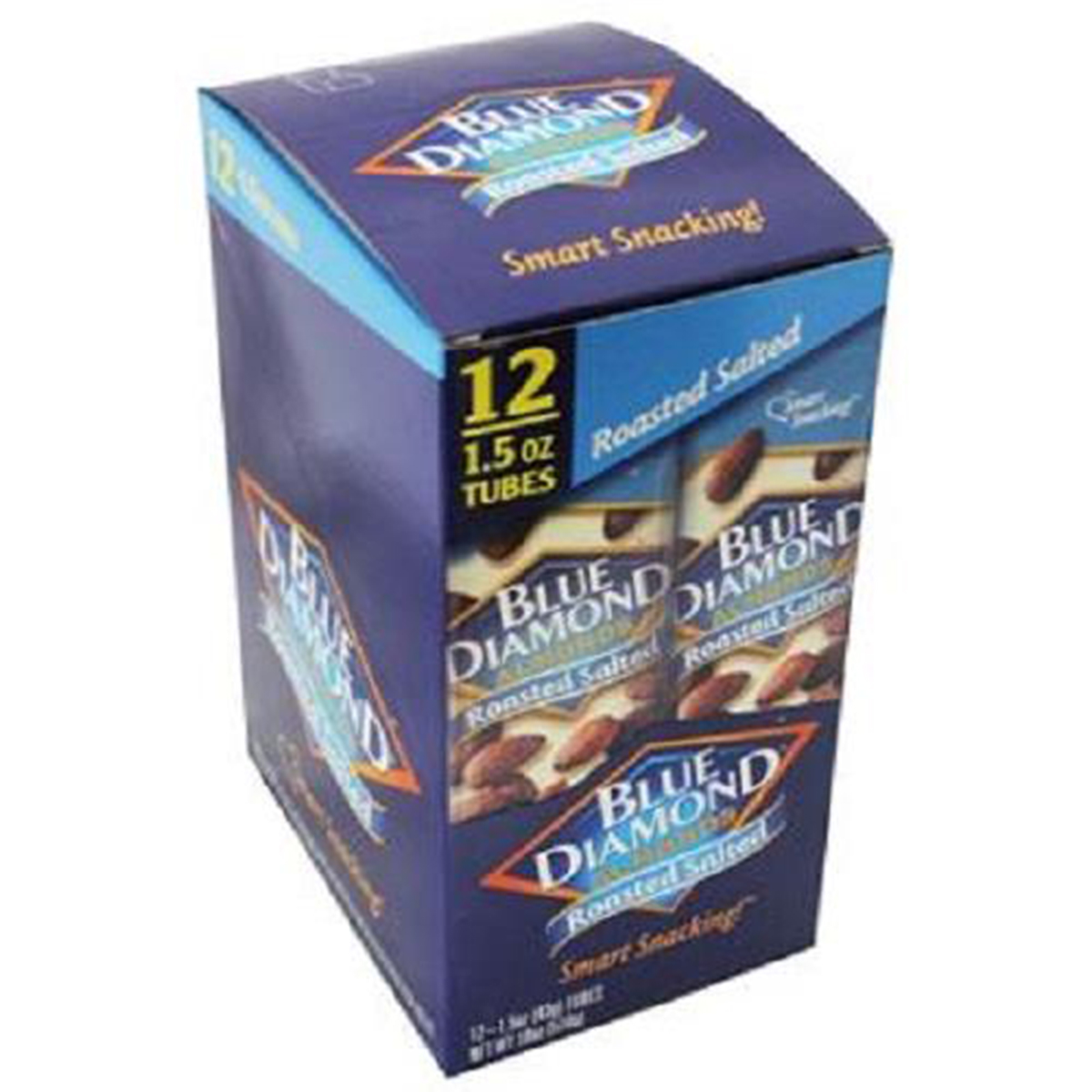 Product Of Blue Diamond, Almonds Roasted Salted Tube, Count 12 (1.5 oz) - Nut & Dry Fruit / Grab Varieties & Flavors
