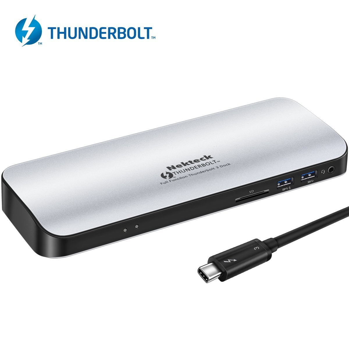 Nekteck Thunderbolt 3 PD Docking Station, Supports 4K HD Display, 60W Power Delivery by Nekteck
