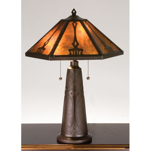 Meyda Tiffany 78067 Craftsman / Mission Accent Table Lamp From The Grenway  Colle