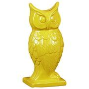 Spectacular & Magnificent Ceramic Owl Figurine Vase In Yellow Large