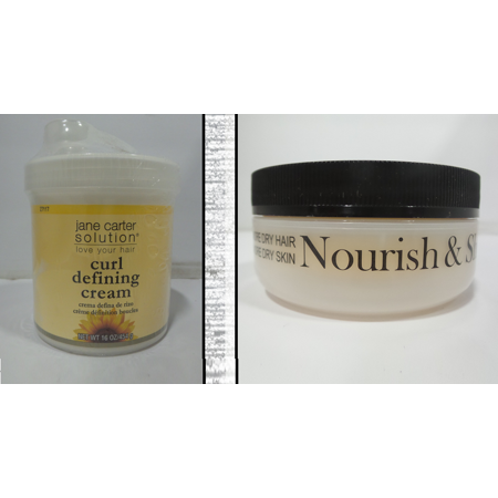 Jane Carter Nourish & Shine, 4 oz & Curl Defining Cream, 16 oz