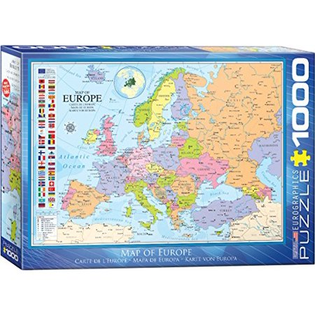 Eurographics Map Of Europe 1000 Pc Puzzle Walmart Canada