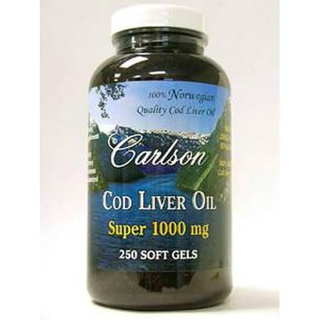 Carlson labs super cod liver oil 1000 mg 250 gels for Cod fish walmart