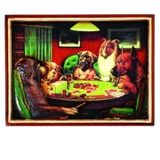 RAM Game Room Pub Sign - Poker Dogs with Cigars