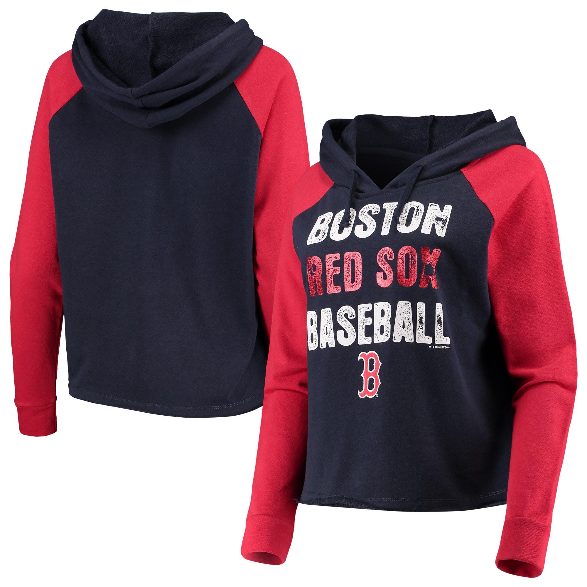 Boston Red Sox Womens Pullover Drawstring Hoodie