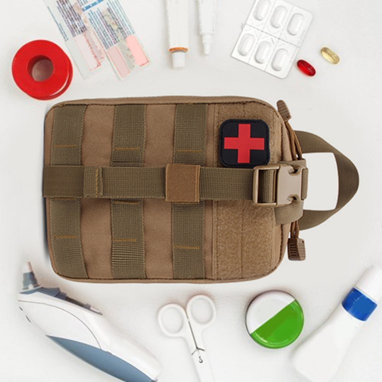 Outdoor Travel First Aid Kit Tactical Waist Pack Camping Bag Emergency Case