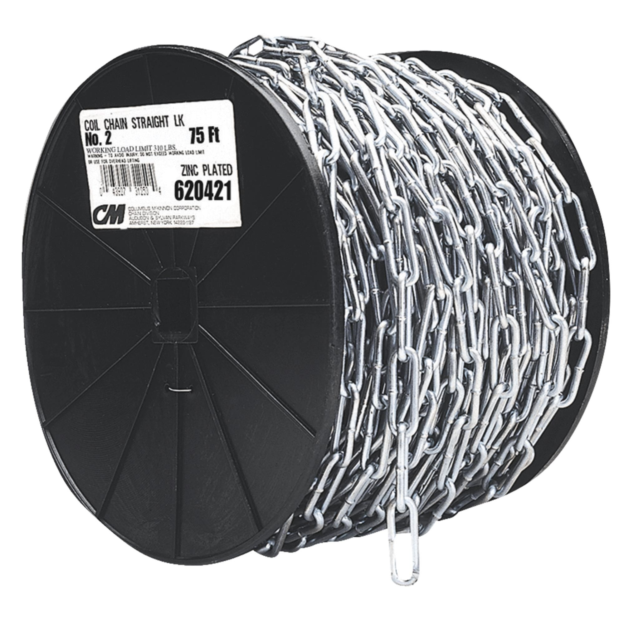 Campbell Chain 072-2827 2/0 40-Foot Straight Link Chain Reel
