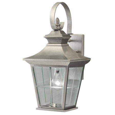 Aztec Lighting  1-light Antique Pewter Outdoor Wall Lantern Classic Pewter Outdoor Wall