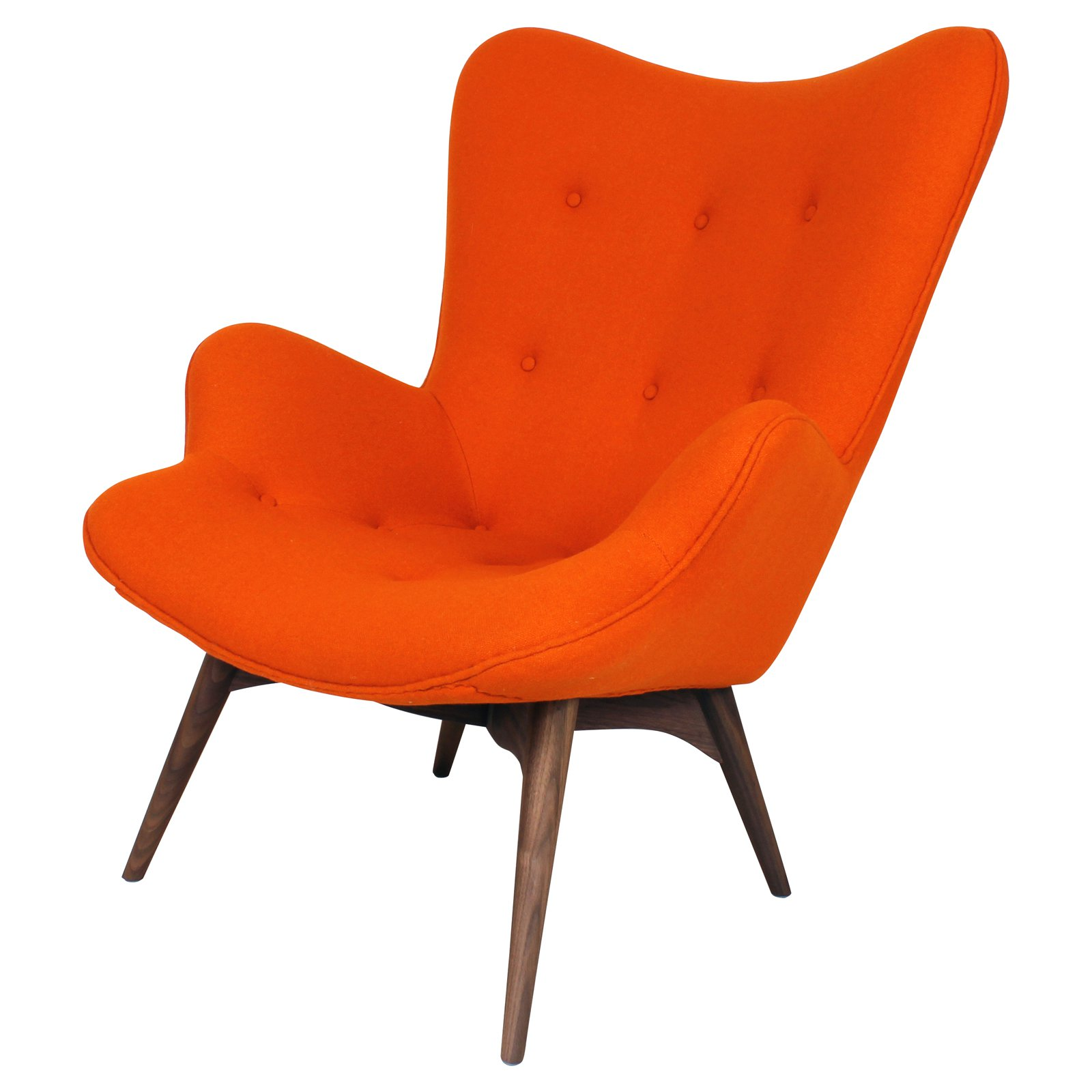 Kirch FEC7519ORG Teddy Bear Chair - Orange Wool