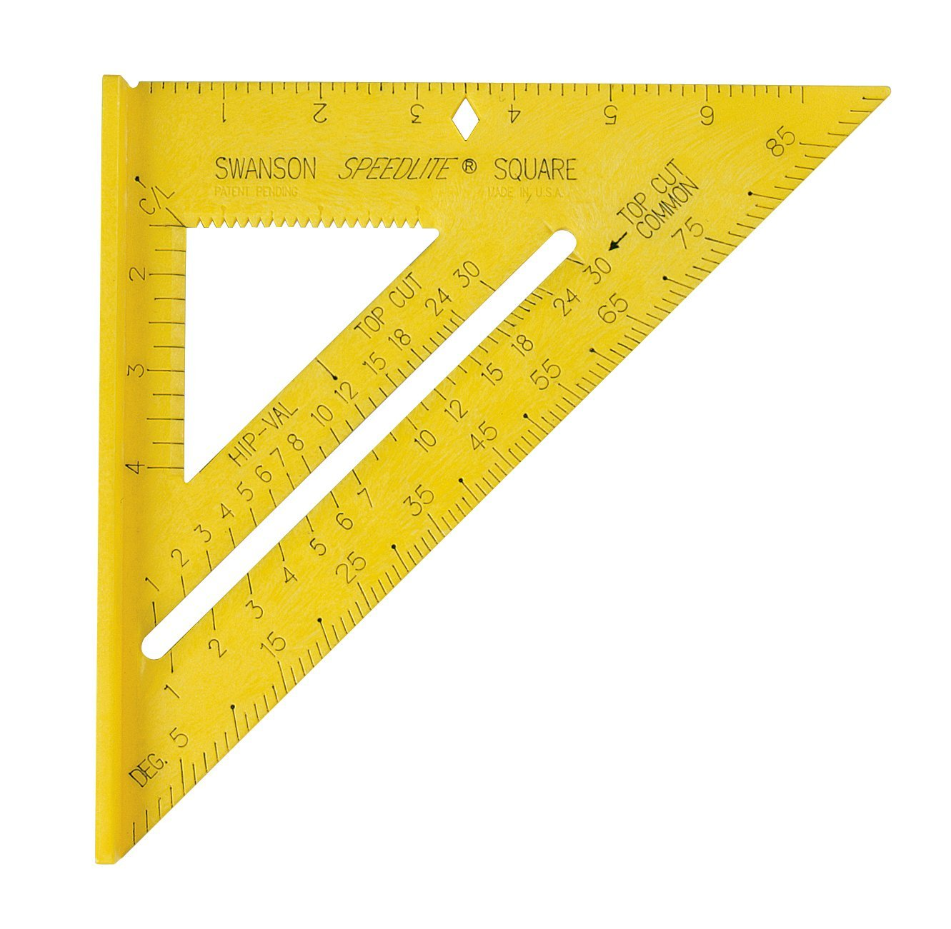Tool T0119 Speedlite Square Layout Tool, Yellow, 8-Inch size is great for siding By Swanson by