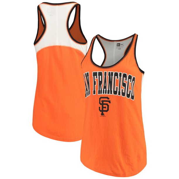 San Francisco Giants 5th & Ocean by New Era Women's Baby Jersey Racerback Tank Top - Orange