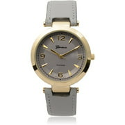 Brinley Co. Women's Round Face Faux Leat