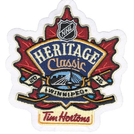 2016 Official NHL Heritage Classic 'Tim Hortons' Jersey Patch Winnipeg Jets Edmonton Oilers