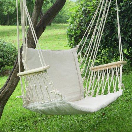 Adeco trading tree hanging suspended indoor outdoor hammock chair - Choosing a hammock chair for your backyard ...