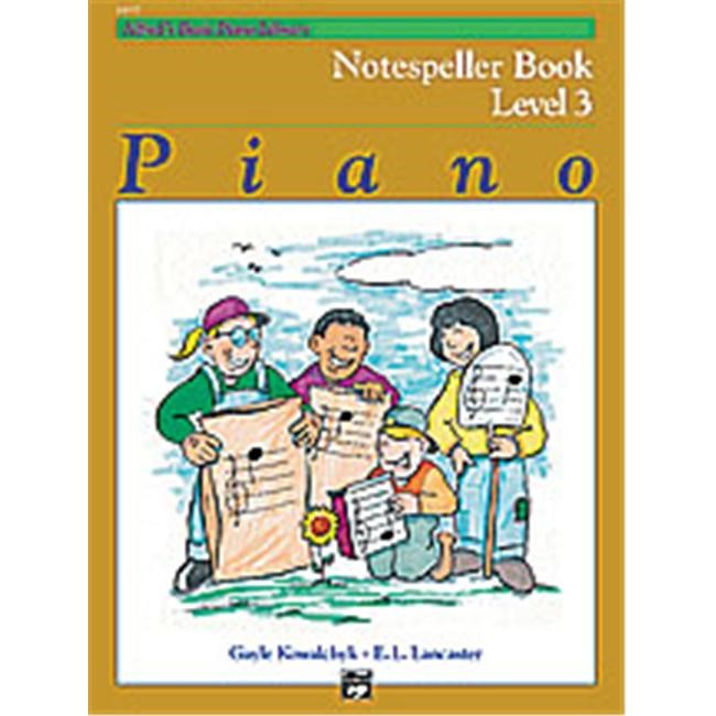 Alfred 00-14557 Basic Piano Course- Notespeller Book 3 - Music Book