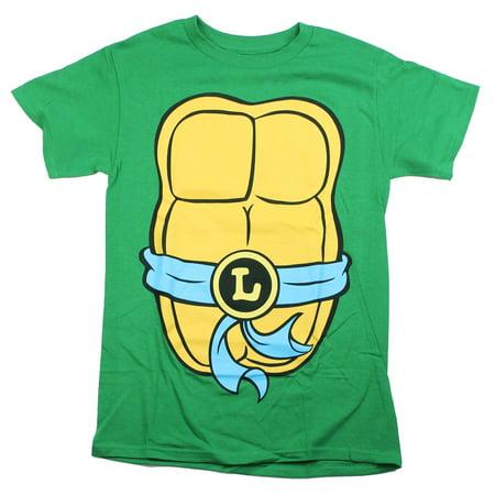 Teenage Mutant Ninja Turtles Mens T-Shirt - Blue Belt Leo Costume Front (XX-Large)
