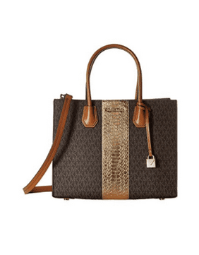 MICHAEL Michael Kors Women's Mercer Tote (Brown/Gold) … 30F7GM9T7V-200
