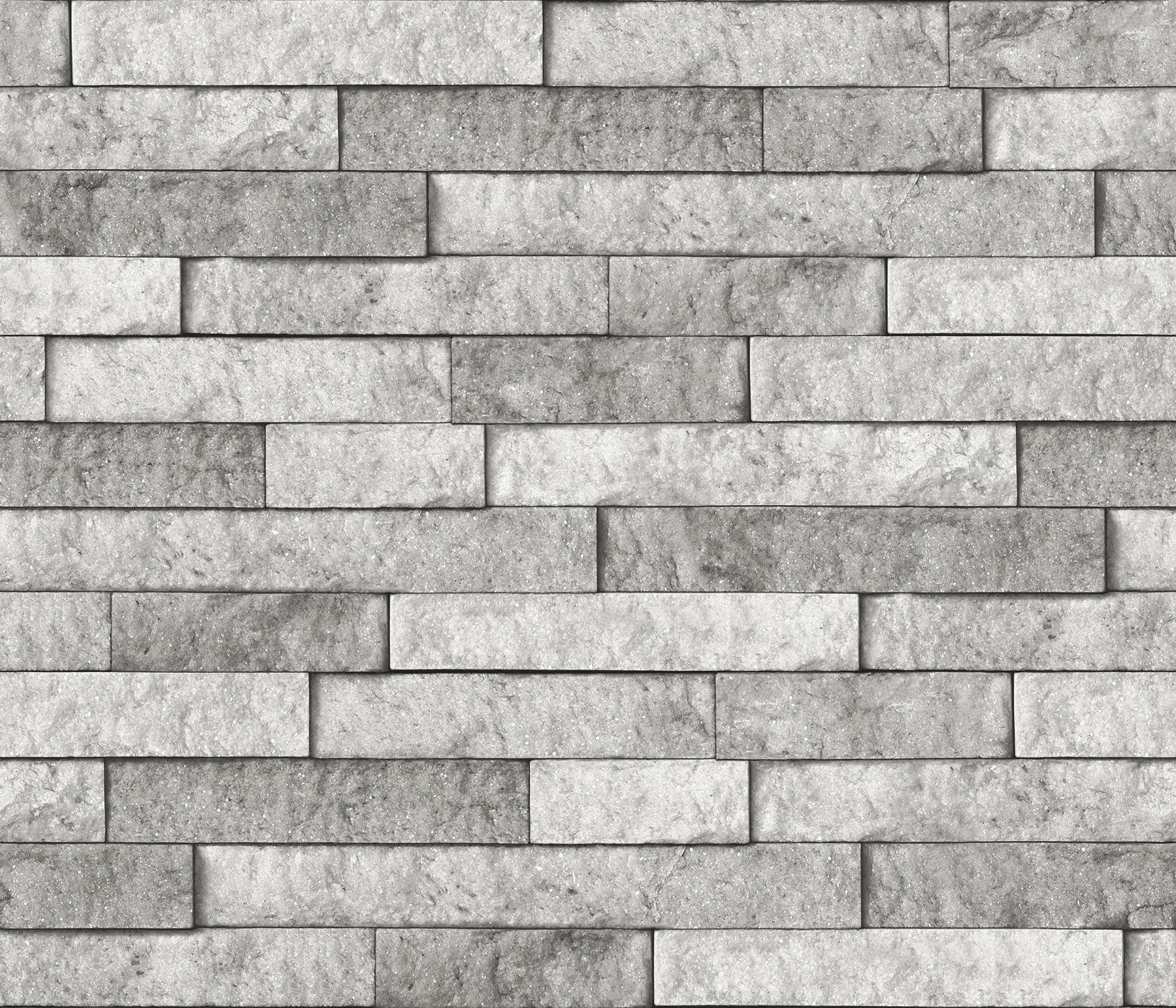 - Brewster Grey Stone Peel & Stick Backsplash - Walmart.com - Walmart.com