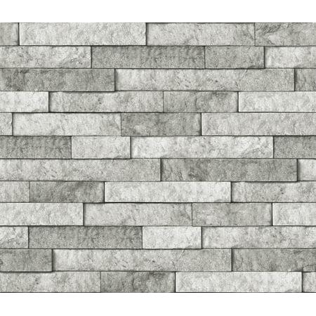 Brewster Bear - Brewster Grey Stone Peel & Stick Backsplash