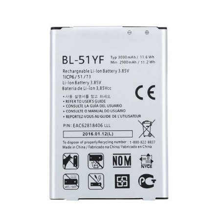 Replacement Battery For LG G STYLO Mobile Phones - BL-51YF (3000mAh, 3 85V,  Li-Ion)