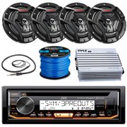"""JVC KD-R99MBS Marine Boat Yacht Radio Stereo CD Player Receiver Bundle Combo with 6.5"""" 2-Way Coaxial Speakers"""