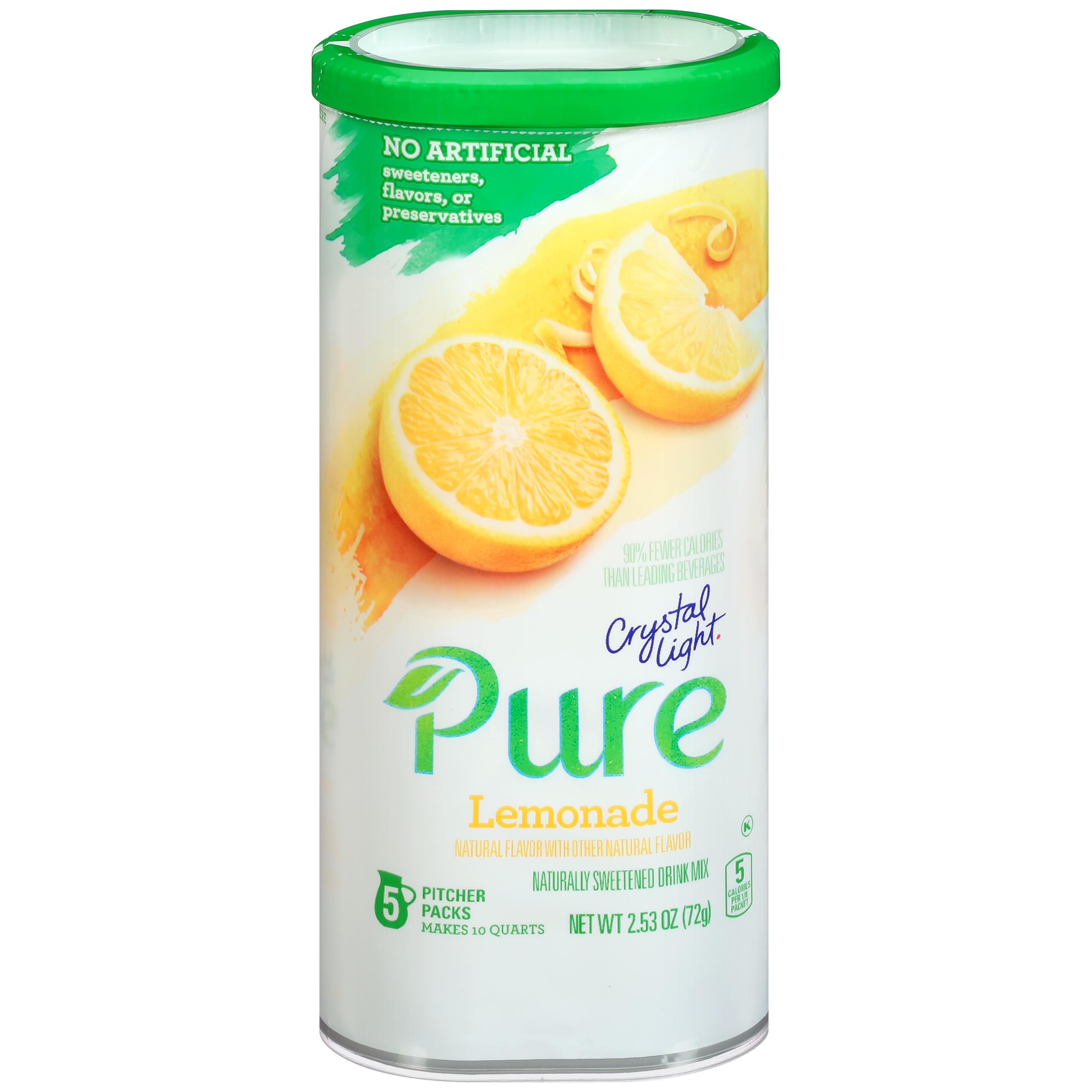 Crystal Light Pure Lemonade Drink Mix 5 ct Canister