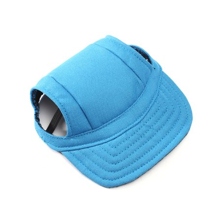 Pet Dog Oxford Fabric Hat Sports Baseball Cap with Ear Holes for Small Dogs - Size S (Blue)