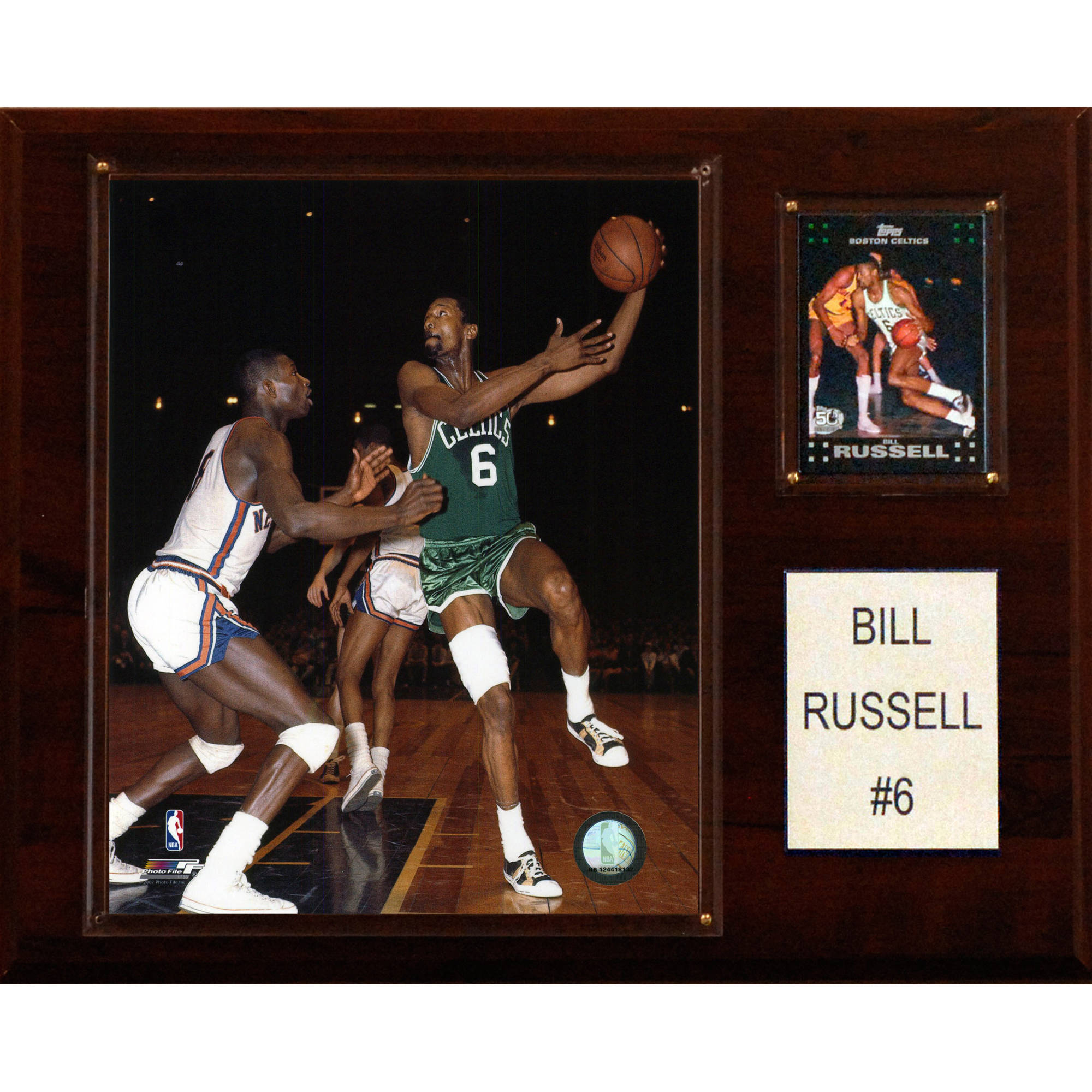 C&I Collectables NBA 12x15 Bill Russell Boston Celtics Player Plaque