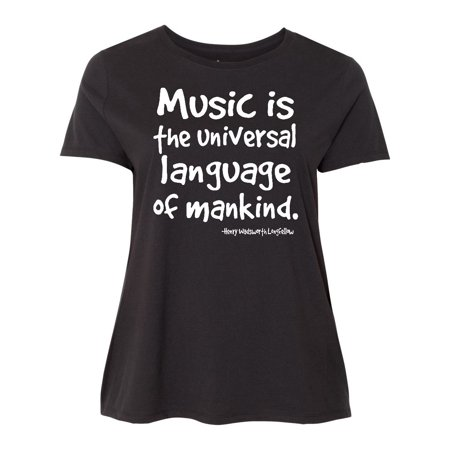 Music Universal Language Quote Women s Plus Size T-Shirt - Walmart.com d3b86b6a7277