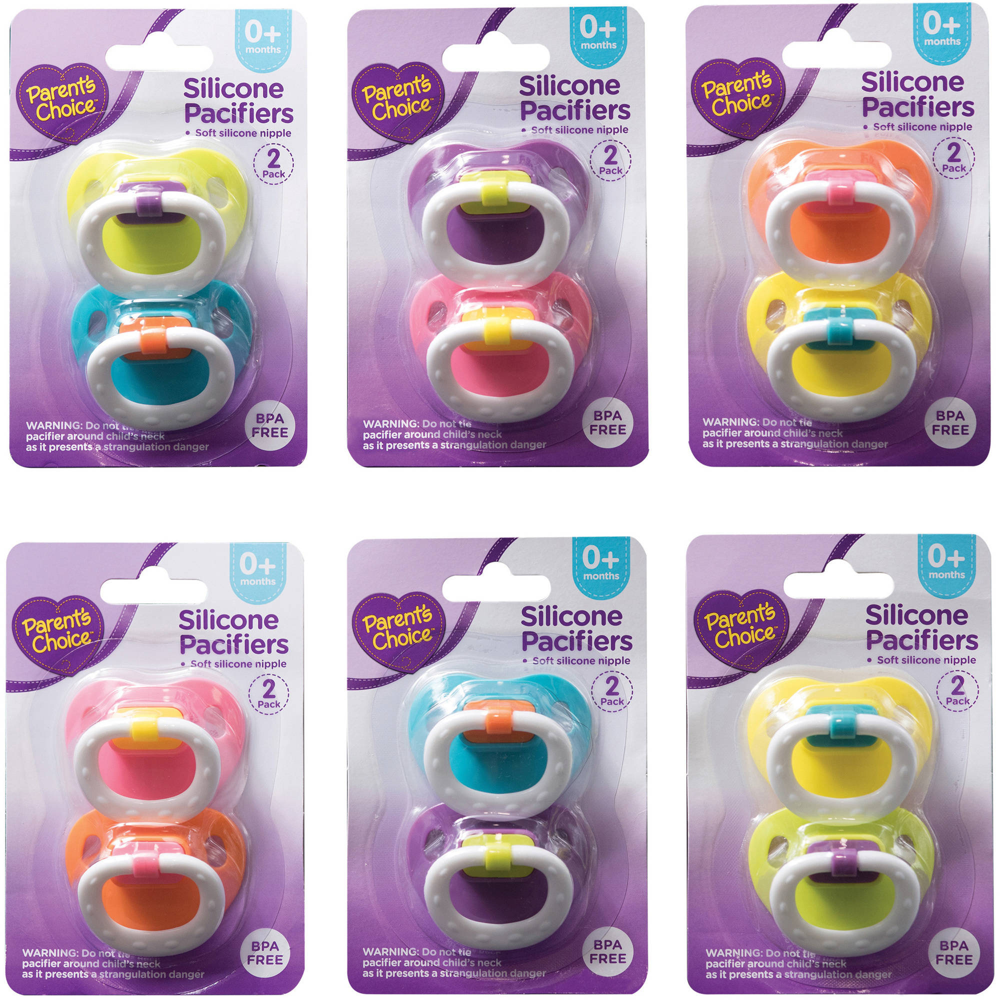 Parent's Choice Silicone Pacifiers, 2 ct