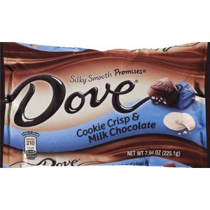 Dove Promises Cookie Crisp & Milk Chocolate Candy 7.94 oz. Bag New, Limited Edition (New Candy)