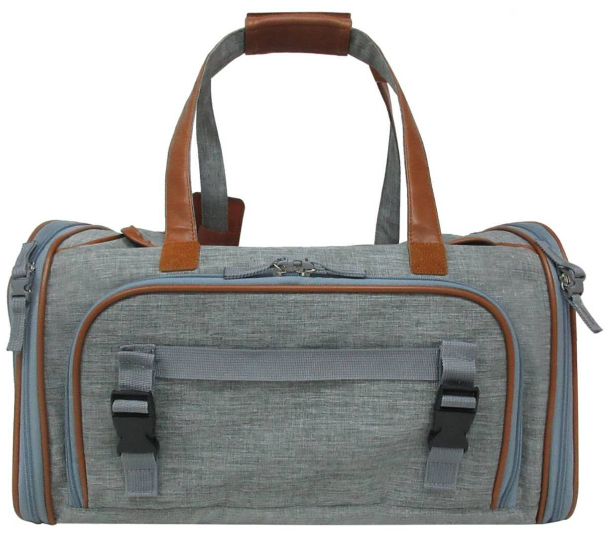 1f5397cea0bc Expandable Airline Approved Soft Sided Pet Carrier by Mr. Peanut's  (Platinum Gray)