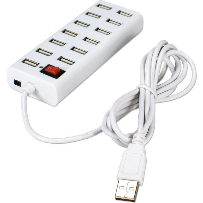 QVS 13-port USB HUB - USB - Wall Mountable - 13 USB Port(s) - 13 USB 2.0 Port(s)
