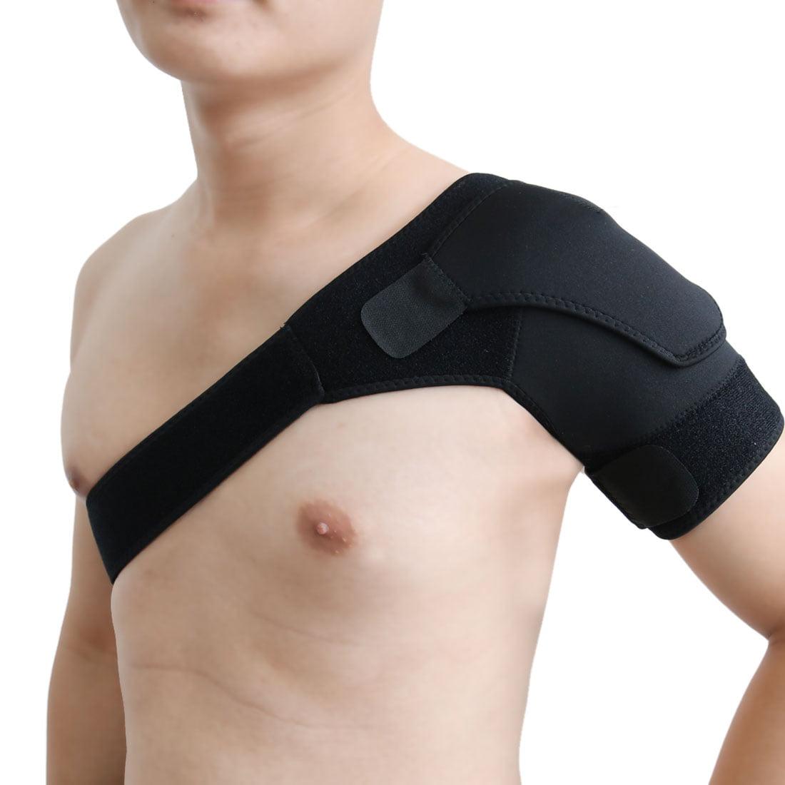 Black Left Shoulder Sleeves Back Posture Corrector Support Brace  Belt