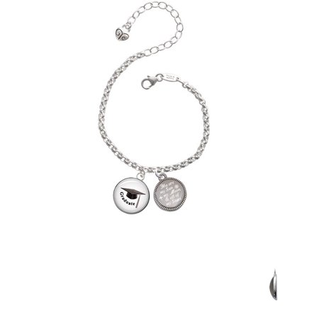 Domed Graduate with Hat You are my Sun, My Moon, and All of My Stars Engraved Bracelet (Graduate Hat)