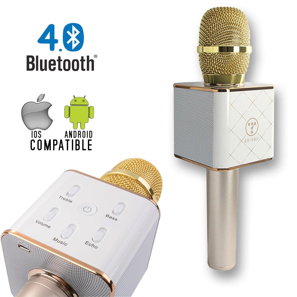 Indigi® MQ7 HandHeld Portable Wireless Bluetooth 4.0 KTV Karaoke Microphone & Speaker