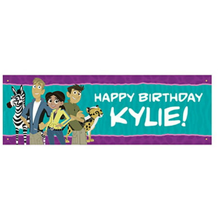 Personalized Wild Kratts Party Animals Birthday Banner