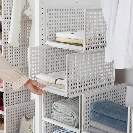 "1PC Foldable Stackable Drawer Type Storage Basket for Bedroom Wardrobe Closet Organize Size:15.3""x11.7""x6.7"" - image 1 de 8"