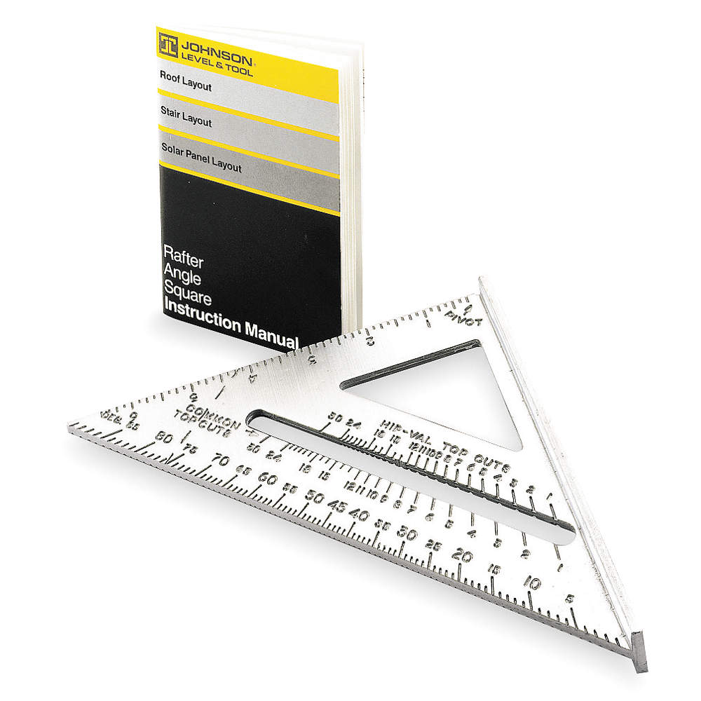 JOHNSON Rafter Angle Square, 7 In, Aluminum RAS1