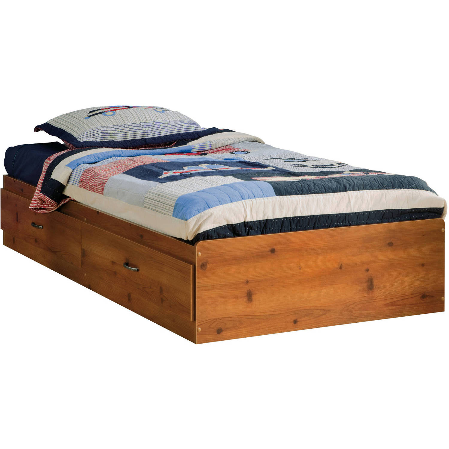 South S Logik Twin Storage Bed 39 With 2 Drawers Multiple Finishes