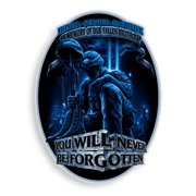 Erazor Bits You Will Never Be Forgotten Soldier Reflective Vinyl Decal, 6""