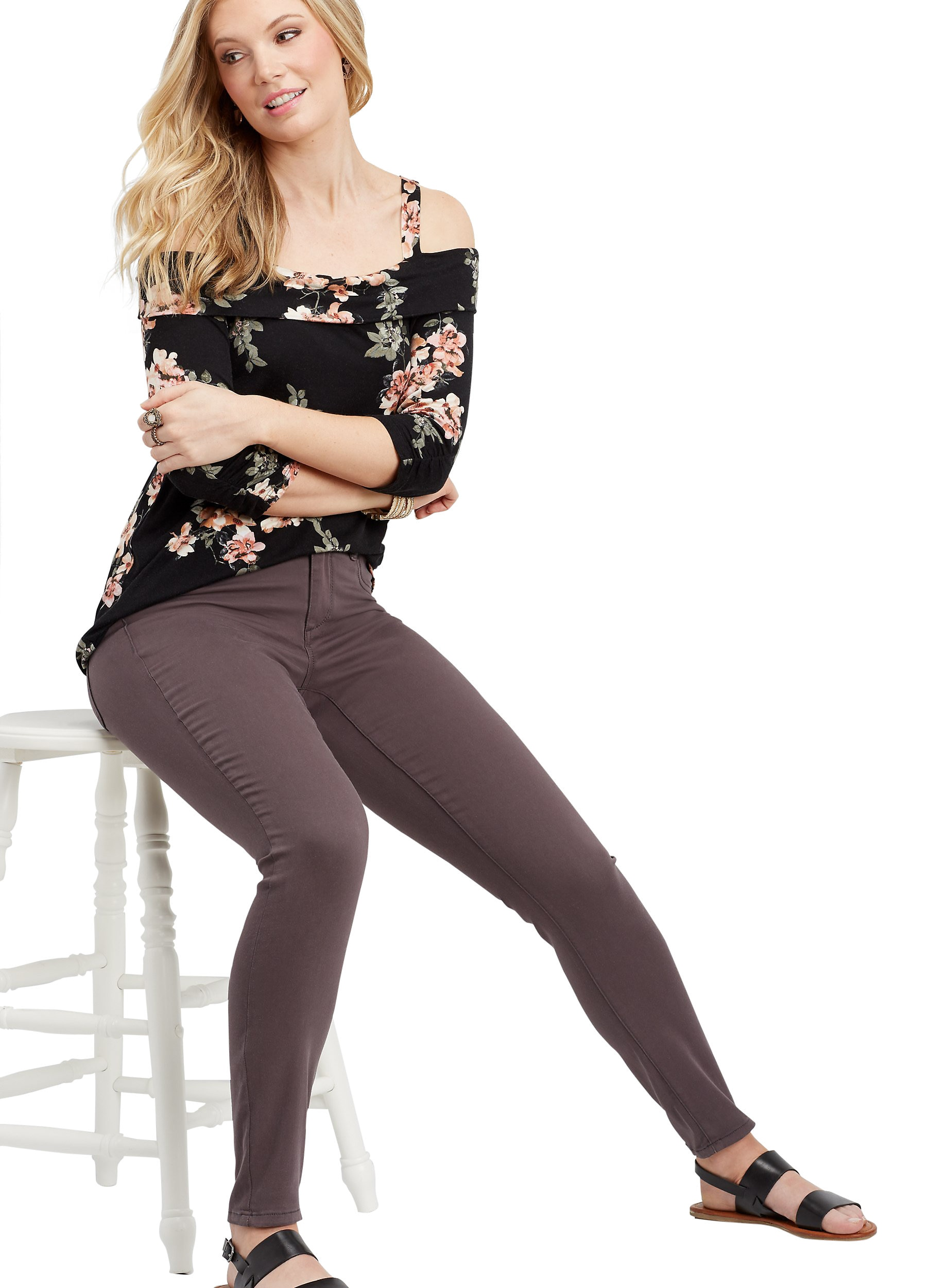 maurices Women's Slate Colored Jeggings - DenimFlex